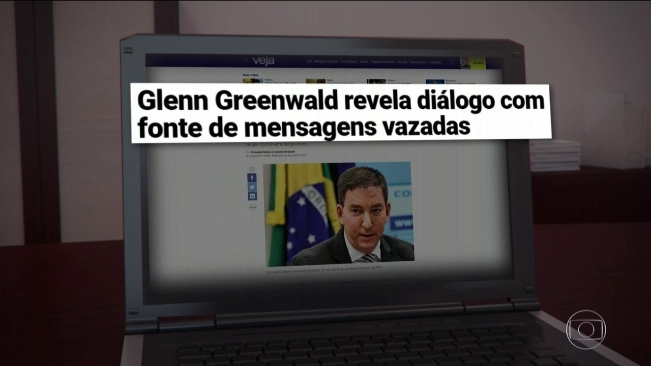 Revista publica diálogo de Glenn Greenwald com suposta fonte de mensagens vazadas