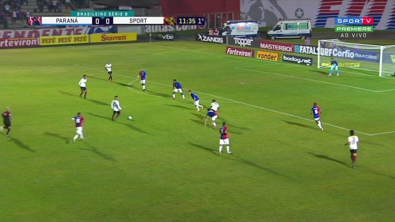 Assista aos melhores momentos de Paraná 0 x 1 Sport pela Série B do Brasileiro
