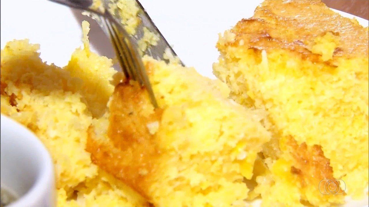 Comerciante ensina receita de bolo de milho cremoso