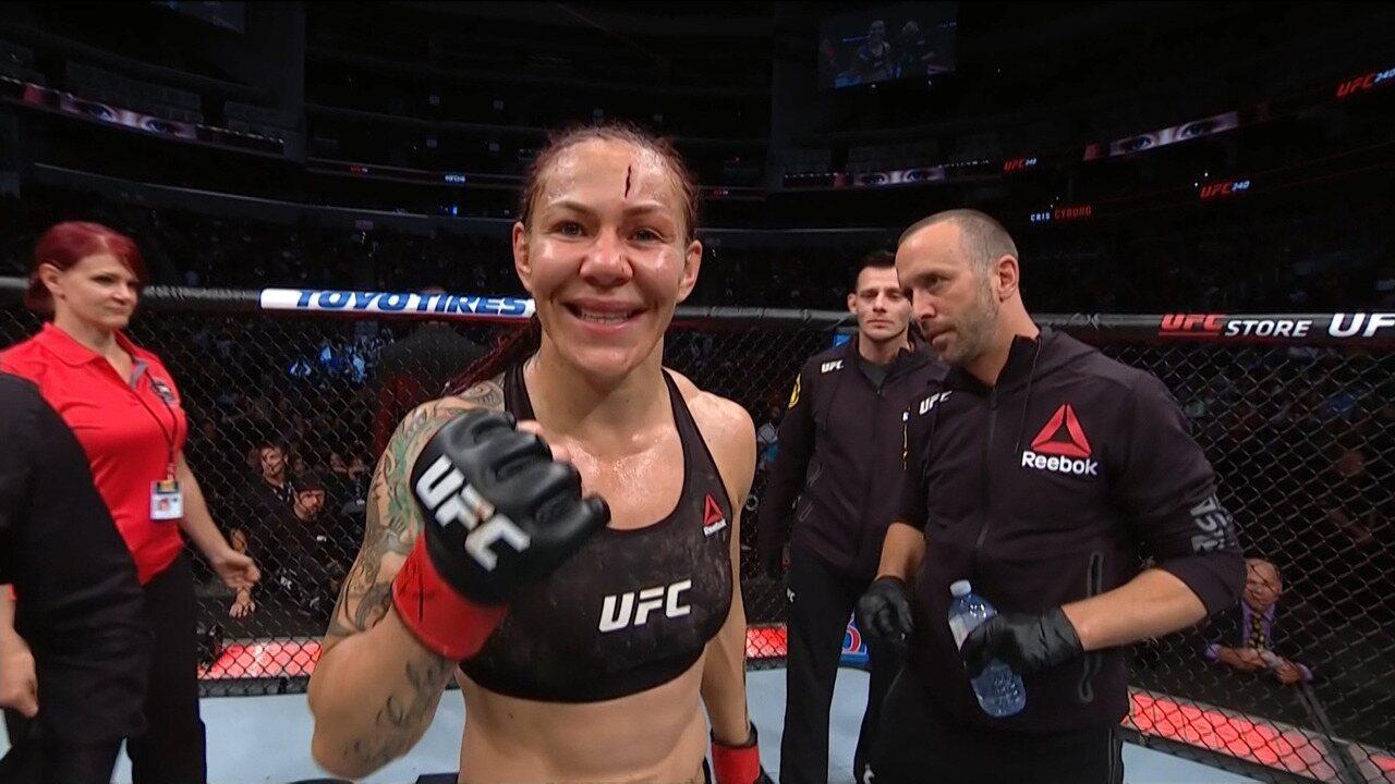 Cris Cyborg espera renovação com UFC para ter a revanche contra Amanda Nunes