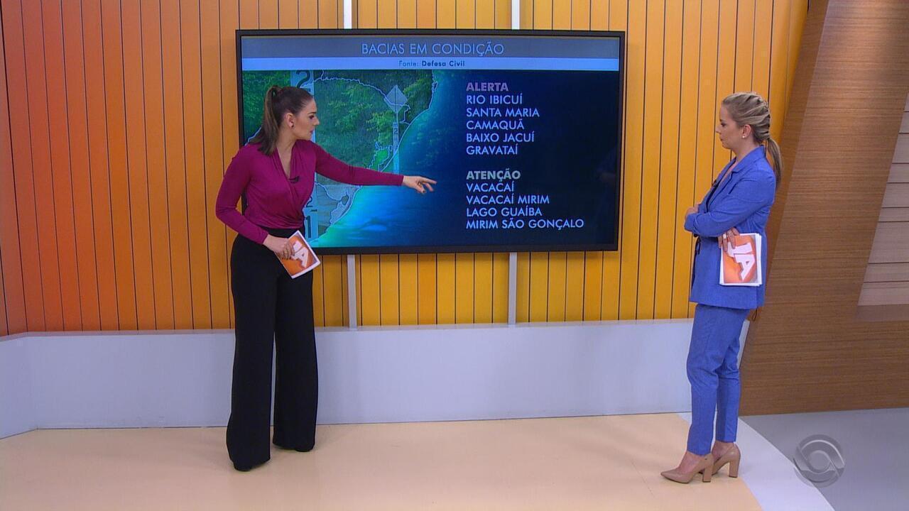 RS tem novo alerta para risco de cheias em rios por causa da chuva