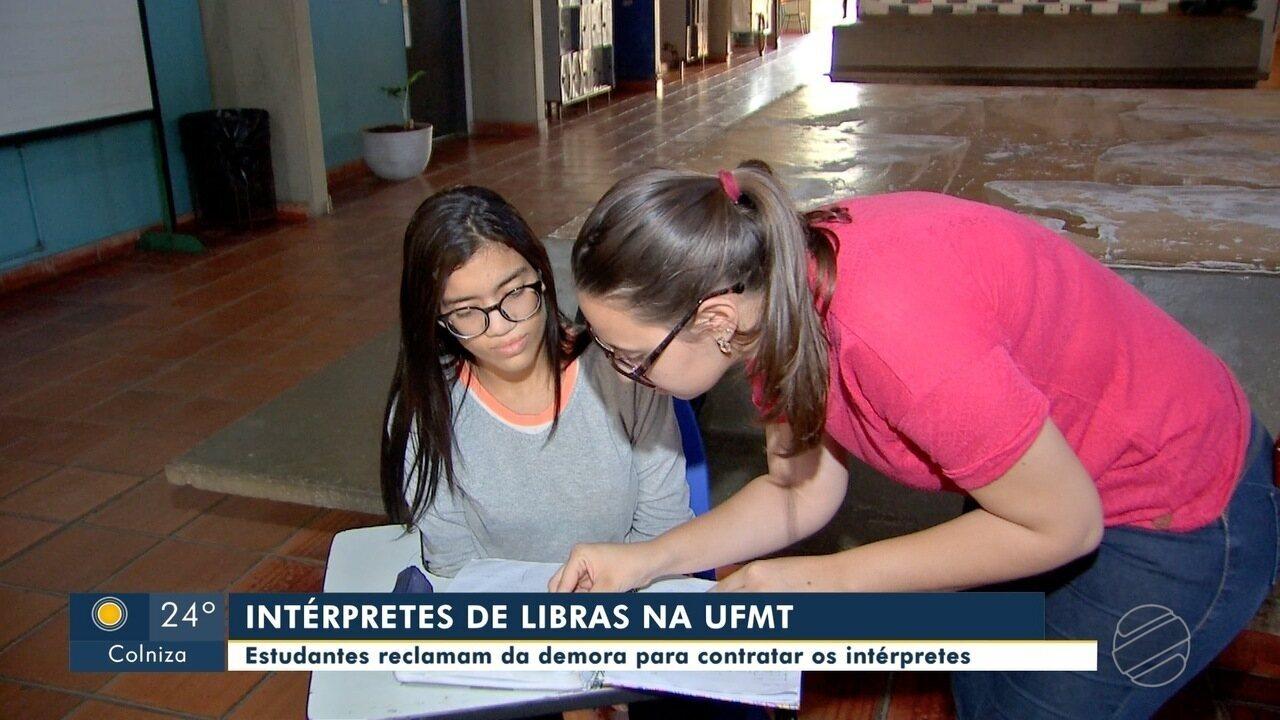Resultado de imagem para Estudantes reclamam da demora na contratação de intérpretes de libras na UFMT