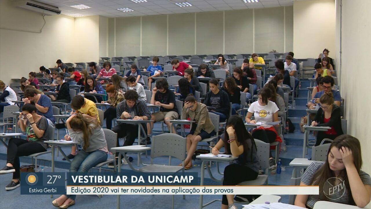 Edição 2020 do vestibular da Unicamp vai ter novidades na aplicação das provas