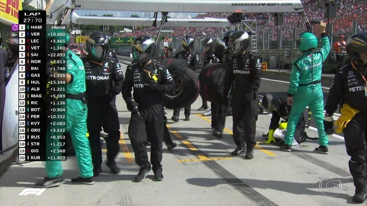 Mercedes segue no blefe e Hamilton se mantém na pista no GP da Hungria