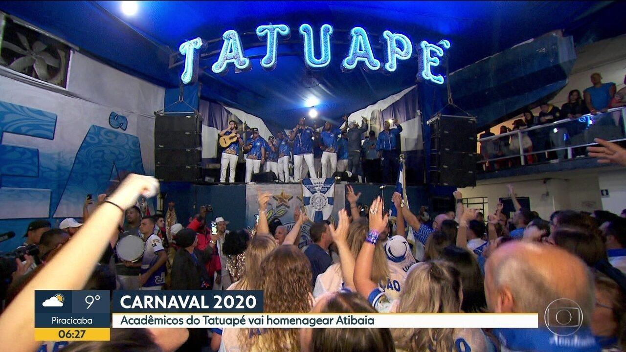Acadêmicos do Tatuapé apresentou neste final de semana o samba enredo do carnaval 2020
