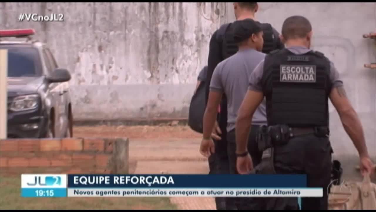Novos agentes penitenciários começam a atuar no presídio de Altamira, após massacre