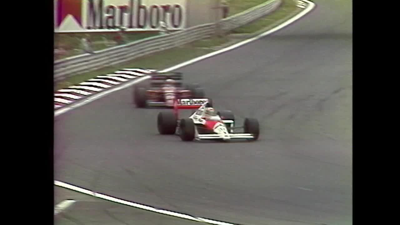 Em 1989, Nigel Mansell passou Ayrton Senna e venceu na Hungria