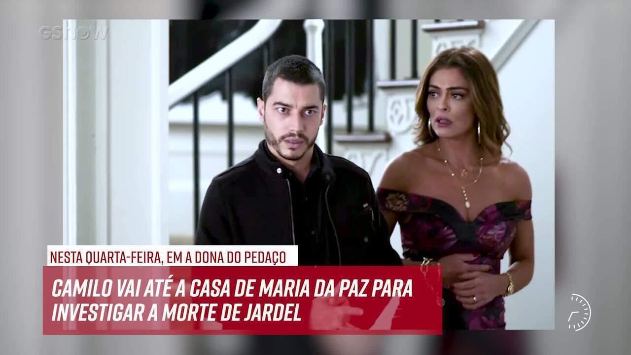 Resumo do dia - 07/08 – Camilo vai até a casa de Maria da Paz para investigar a morte de Jardel