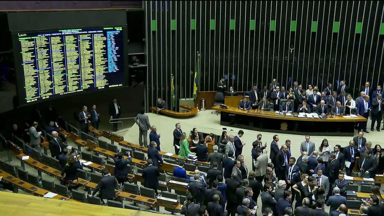 Resultado de imagem para Câmara aprova texto-base da reforma da Previdência em 2º turno