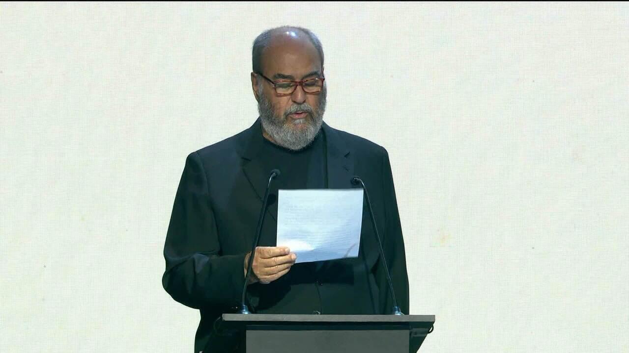 Roberto Irineu Marinho discursa na inauguração do Módulo de Gravação 4