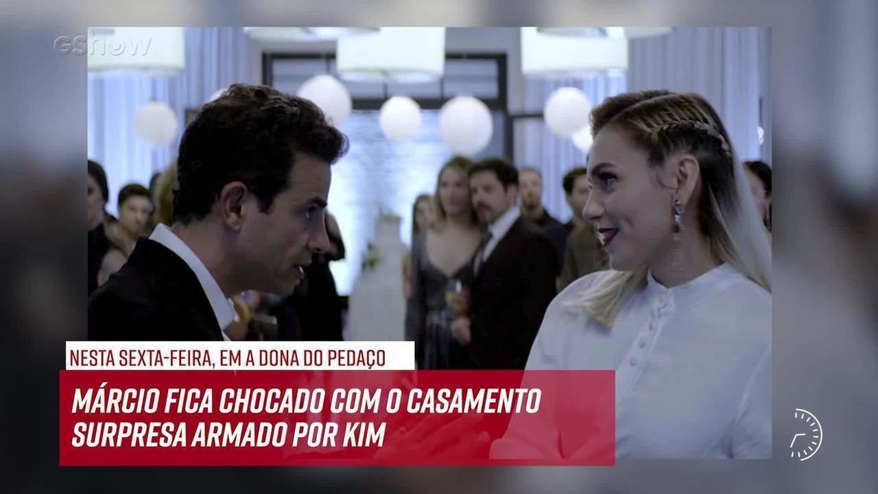 Resumo do dia - 09/08 – Márcio fica chocado com o casamento surpresa armado por Kim