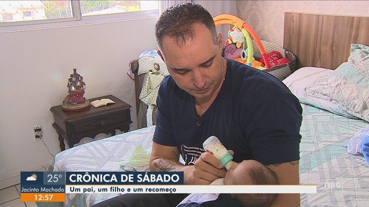 Crônica de sábado: pai que cria filho sozinho após falecimento da esposa relata desafios