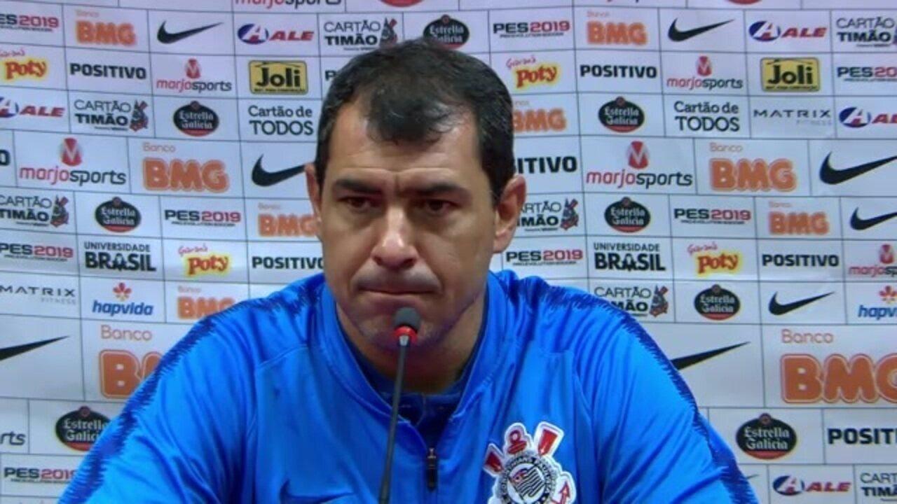 Veja a entrevista coletiva de Fábio Carille após empate do Corinthians no Beira-Rio