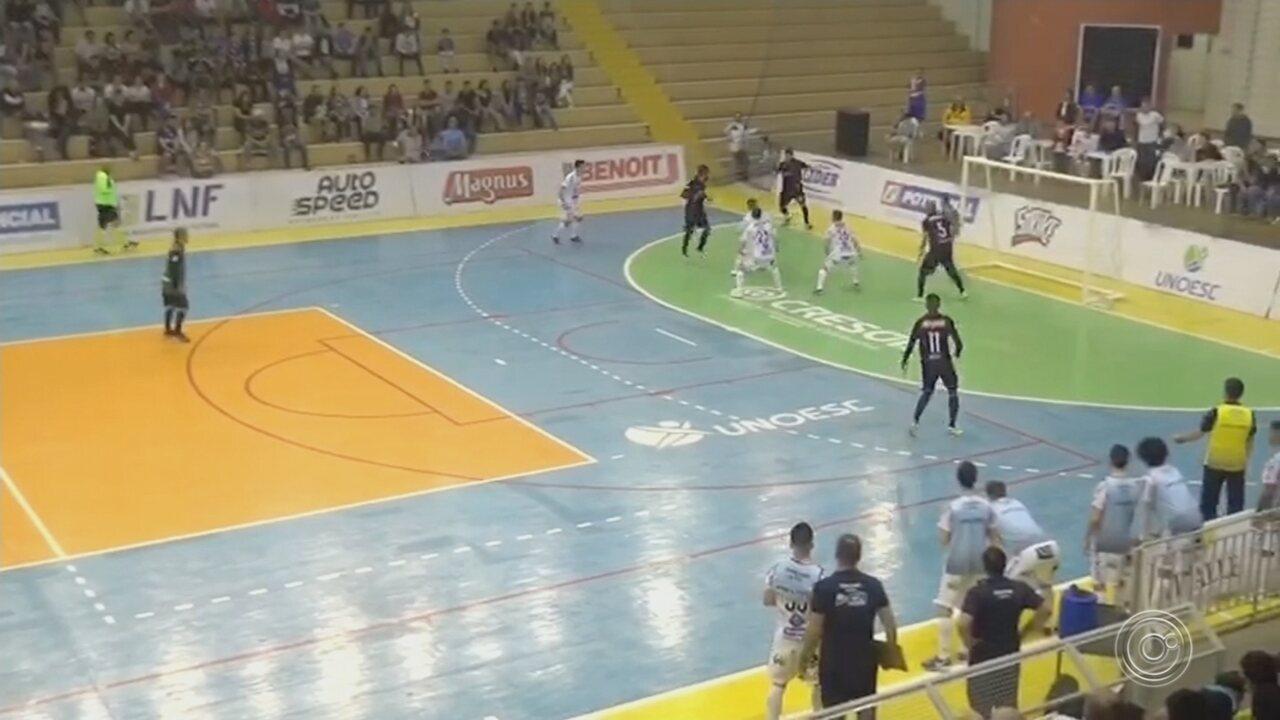 Joaçaba vence o Sorocaba pela Liga Nacional de Futsal