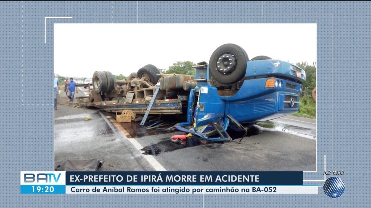 Ex-prefeito de Ipirá, interior do estado, morre em acidente na BA-052; outra pessoa morreu