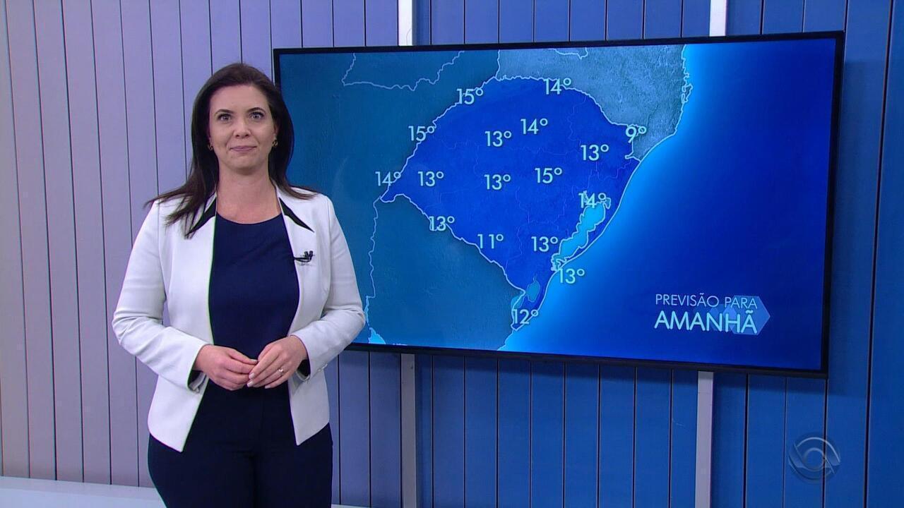 Quarta-feira (14) deve iniciar com temperaturas baixas no RS