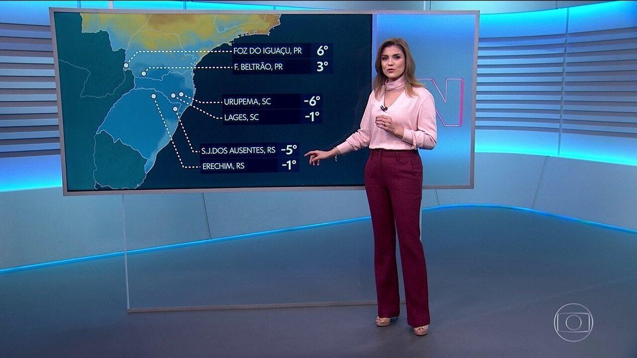 Frio intenso e instabilidades podem provocar neve e geada no Sul do país