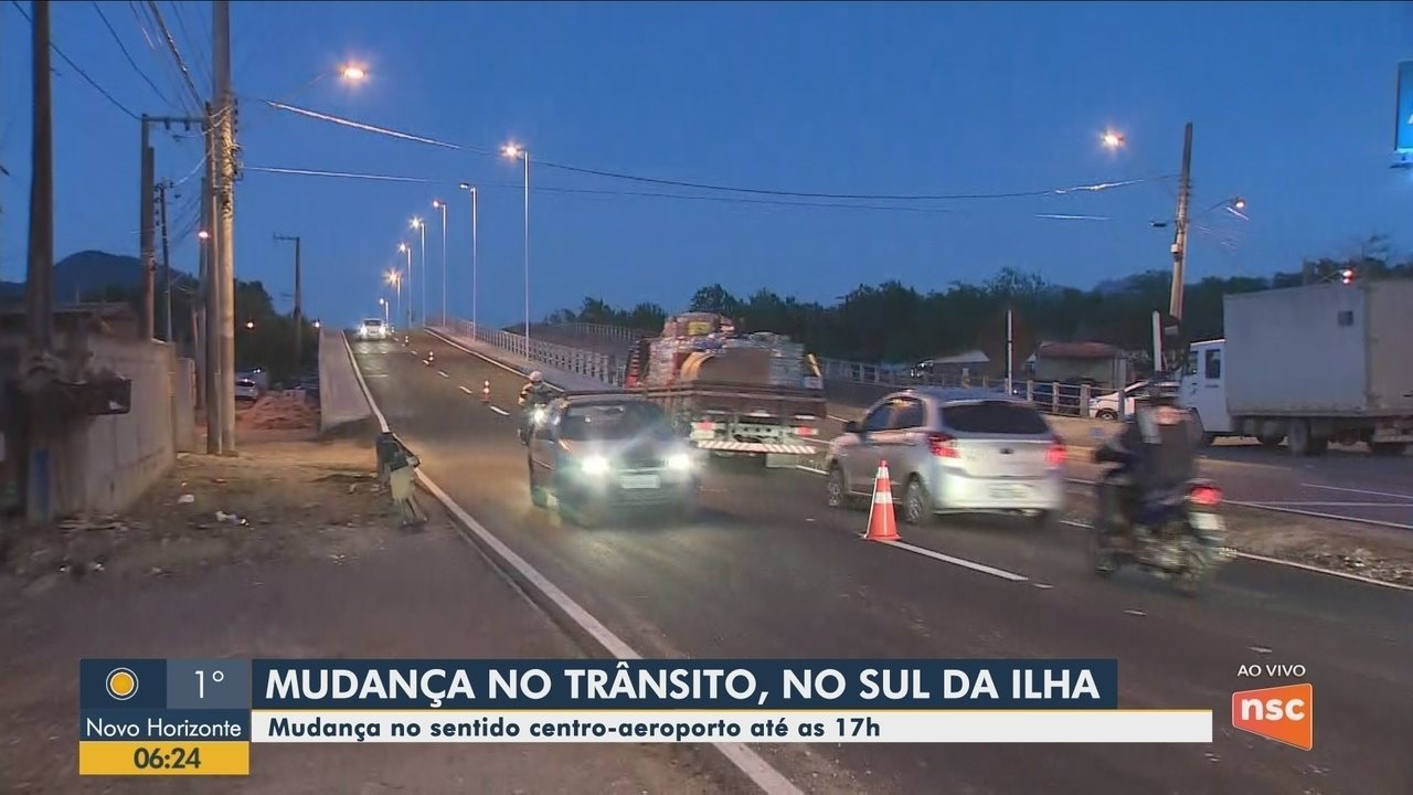 Trânsito no Sul de Florianópolis terá alterações nesta quarta-feira (14)