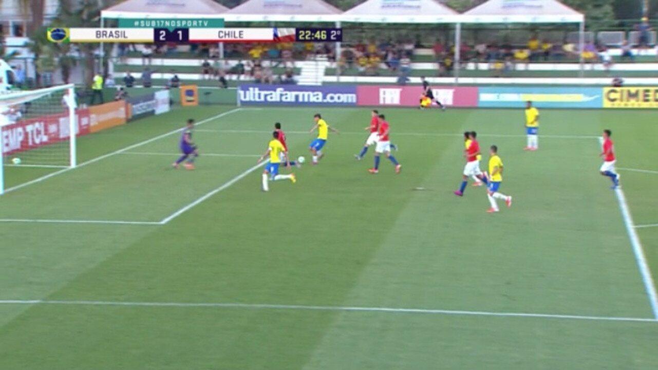 Melhores momentos de Brasil 2 x 1 Chile em amistoso internacional sub-17