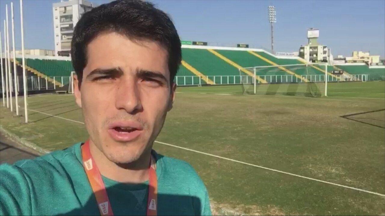 Repórter Mateus Boaventura atualiza informações do Figueirense direto do Scarpelli