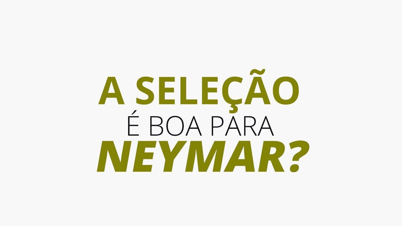 O Neymar é bom para a Seleção ou a Seleção é boa para o Neymar? Confira os números