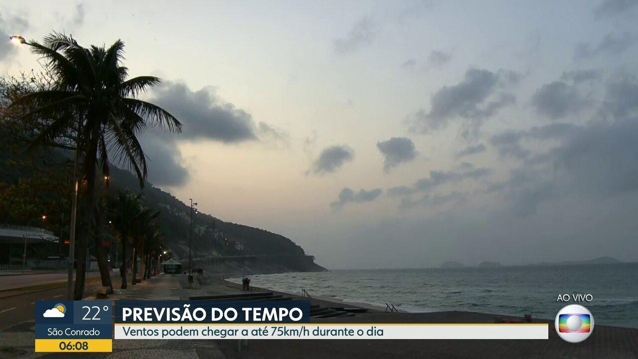 Confira a previsão do tempo para o Rio de Janeiro para esta segunda-feira (19)