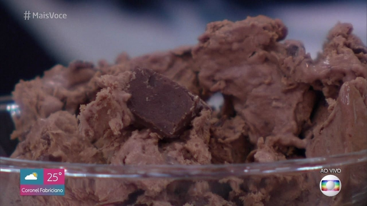 Sorvete de Chocolate com Caramelo