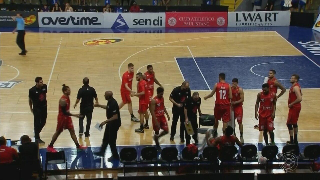 Em casa, Bauru Basket vence Paulistano no domingo