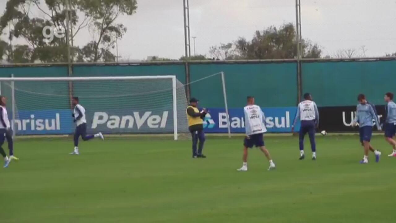 Veja como foi a preparação do Grêmio para enfrentar o Palmeiras nesta terça-feira (20)