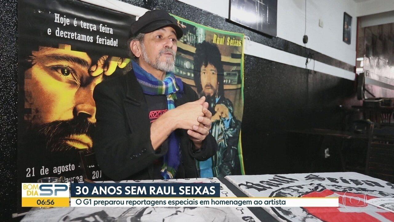 Morte de Rauls Seixas faz 30 anos e a cidade de SP ainda tem marcas de sua história