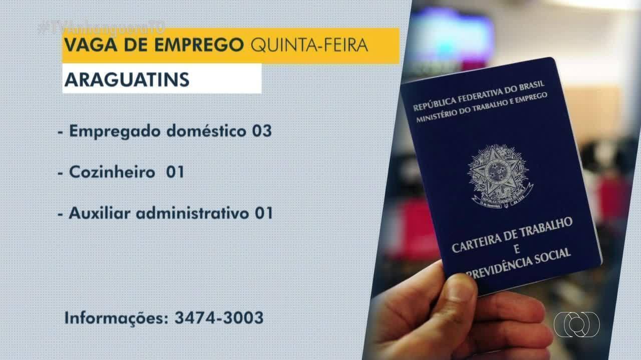 Veja as vagas de emprego disponíveis em Guaraí, Dianópolis e Araguatins