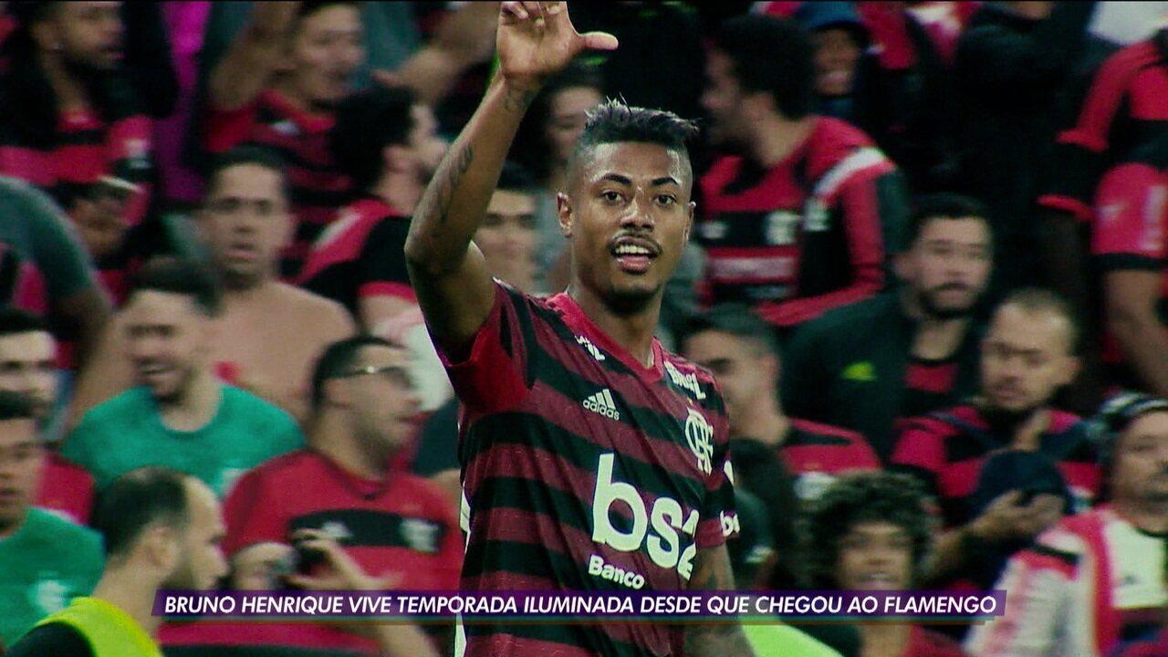 Bruno Henrique tem semana alucinante e vive temporada iluminada no Flamengo
