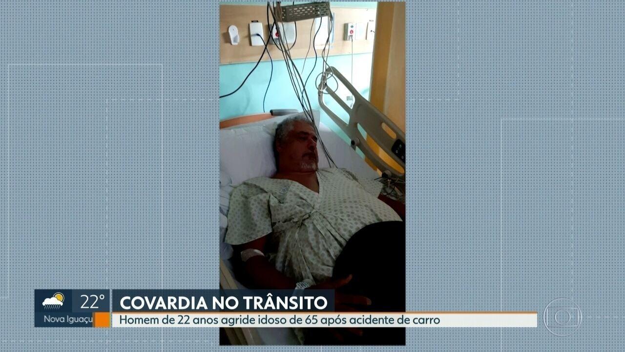 Jovem de 22 anos agride idoso depois de acidente de trânsito no Méier