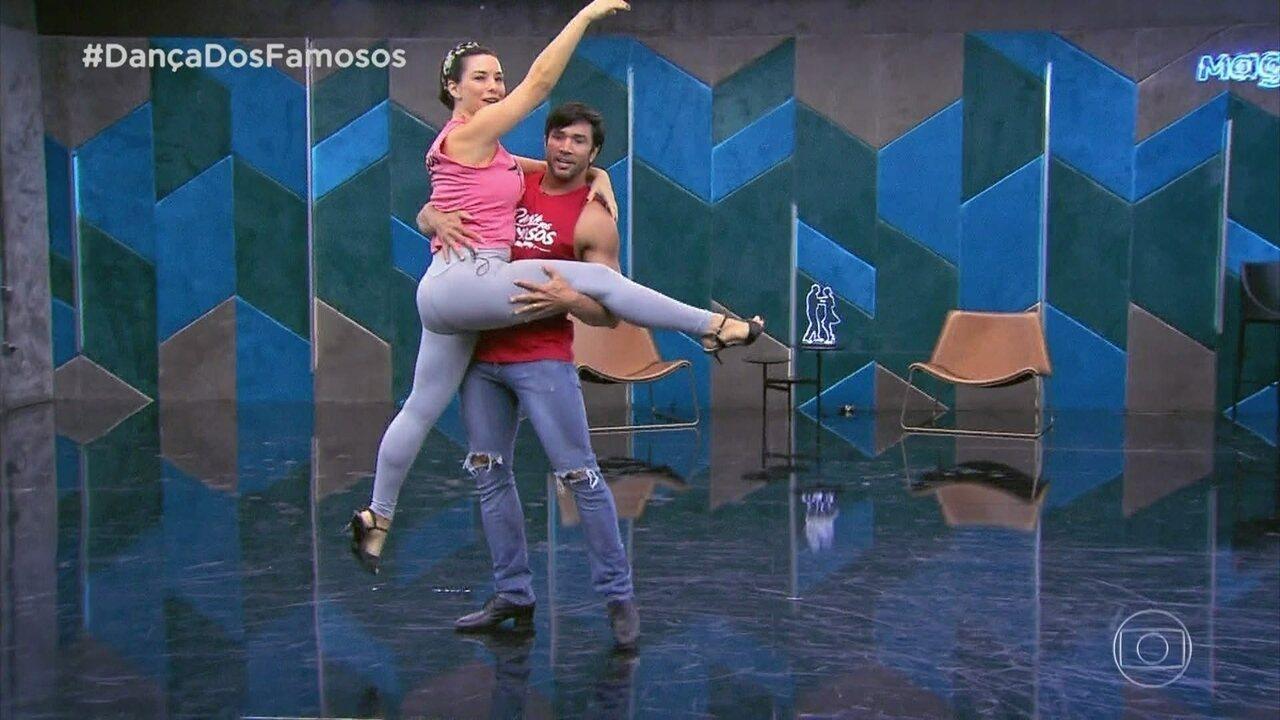 Confira os ensaios de Regiane Alves para o 'Dança dos Famosos'