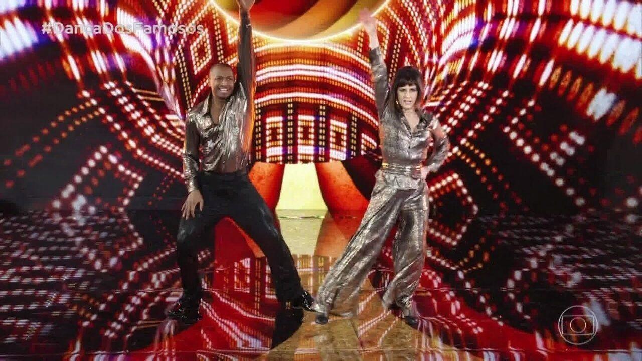 Veja como foi a apresentação de Fernanda Abreu na 'Dança dos Famosos'