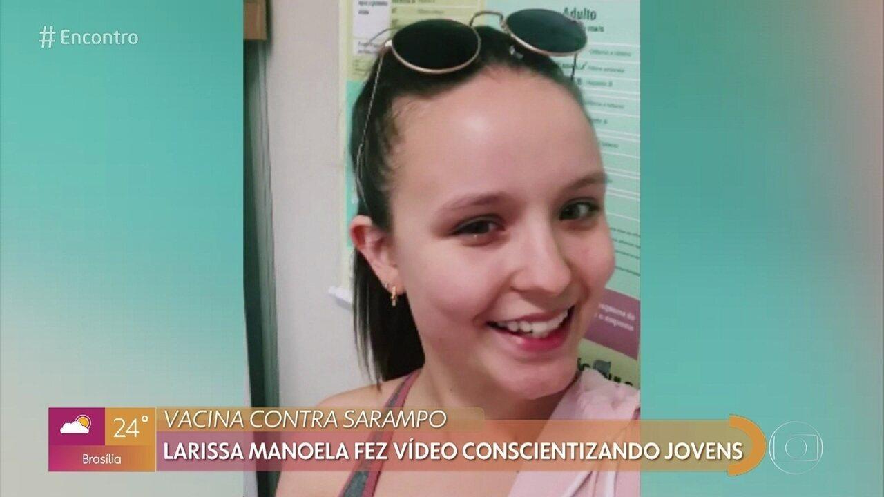 Larissa Manoela fez vídeo conscientizando jovens sobre vacinação