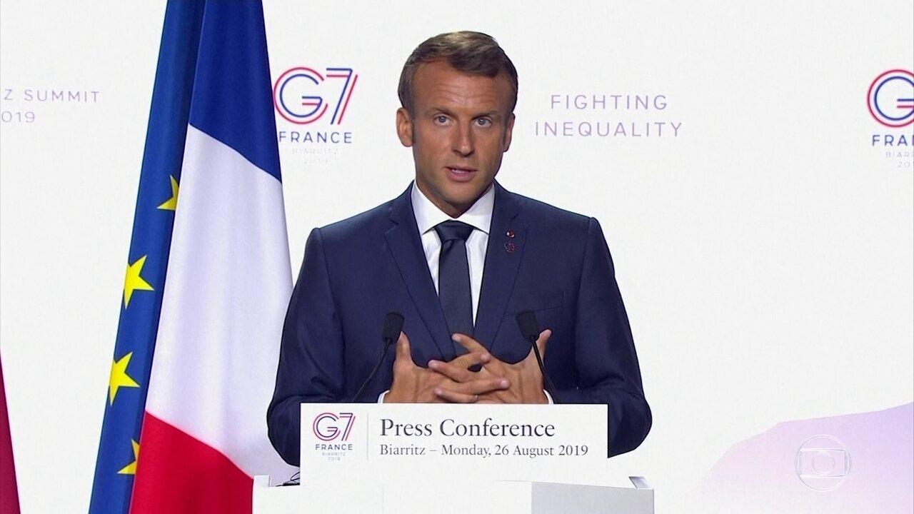 Macron diz que G7 dará 20 milhões de euros para combater queimadas na floresta amazônica