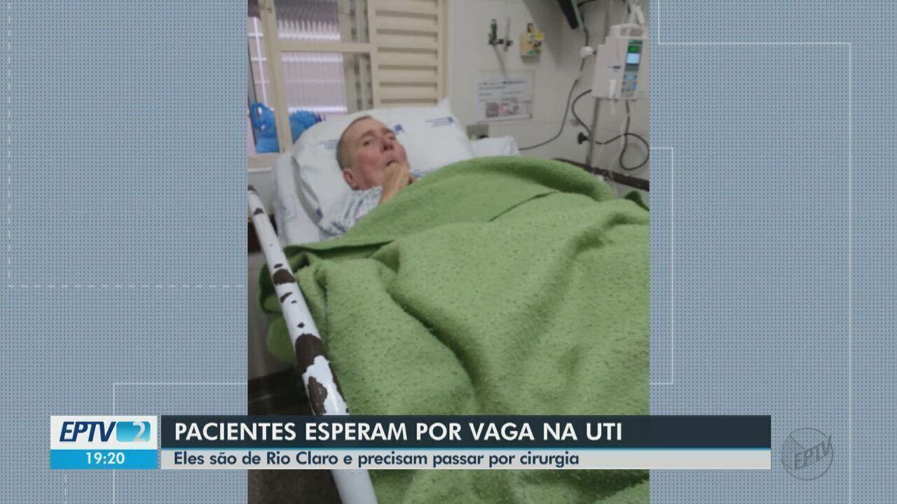 Dois pacientes de Rio Claro esperam vaga na UTI para fazer cirurgia