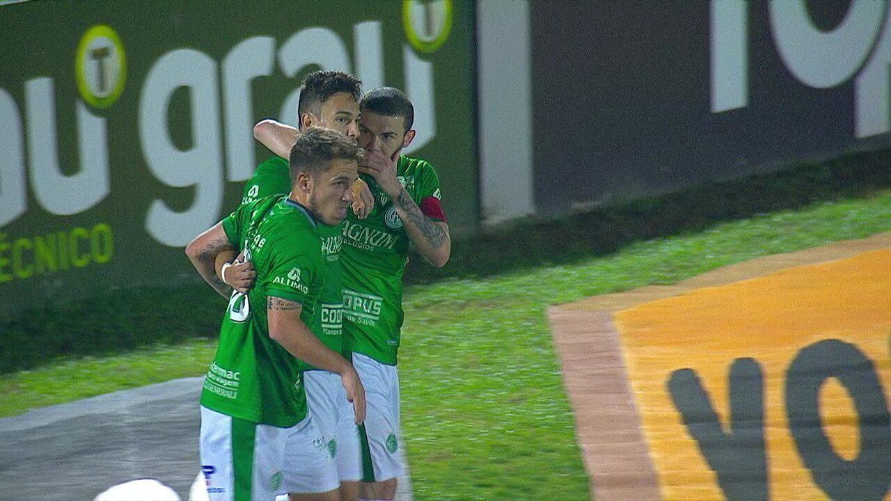 Gol de de Guarani 1 x 0 Londrina pela 19ª rodada do Campeonato Brasileiro Série B