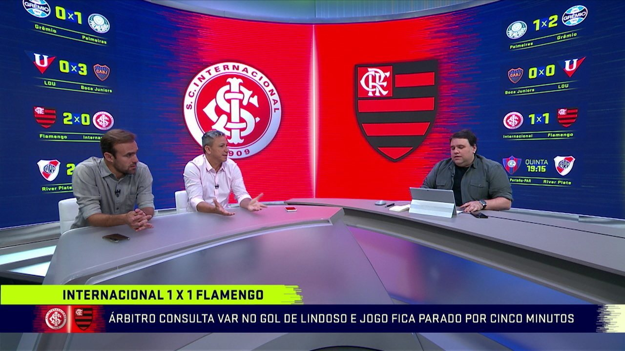 Comentaristas analisam demora do VAR para decidir gol do Internacional