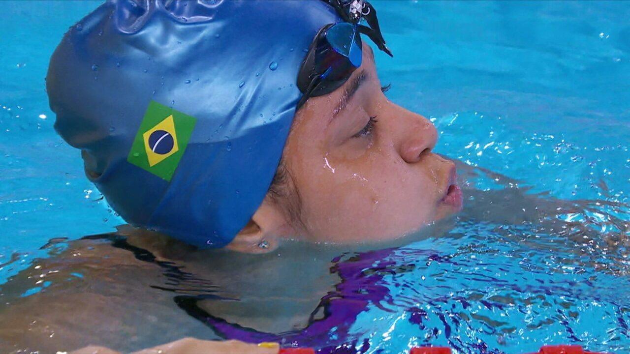 Cecilia Jeronimo de Araujo vence 100m livre S8, e Brasil atinge recorde de medalhas nos Jogos Parapan-Americanos