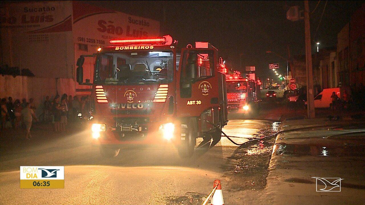 Incêndio é registrado em loja em São Luís