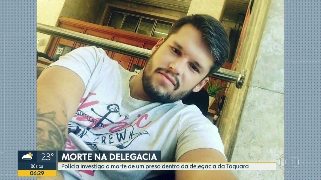 Polícia investiga morte de preso na delegacia da Taquara