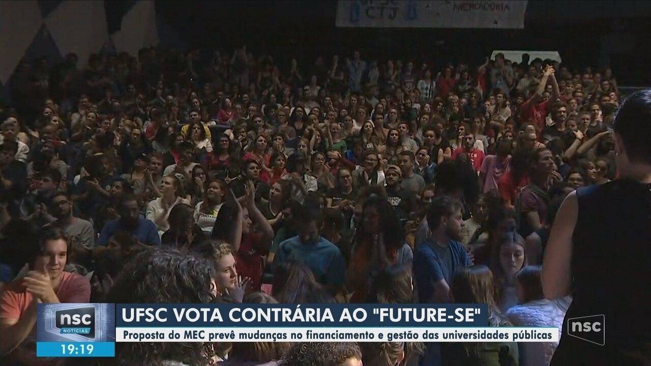 Conselho Universitário da UFSC aprova manifestação de rejeição ao Future-se