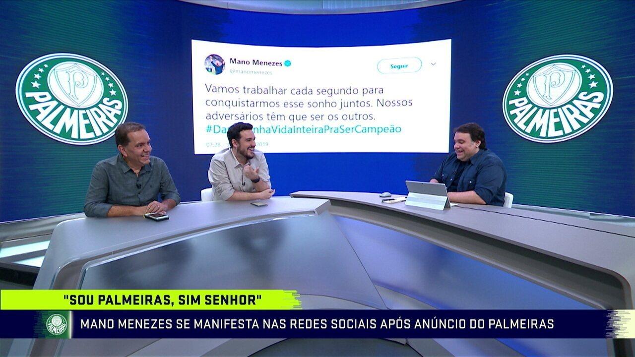 Troca de Passes discute troca do Palmeiras de Felipão por Mano Menezes
