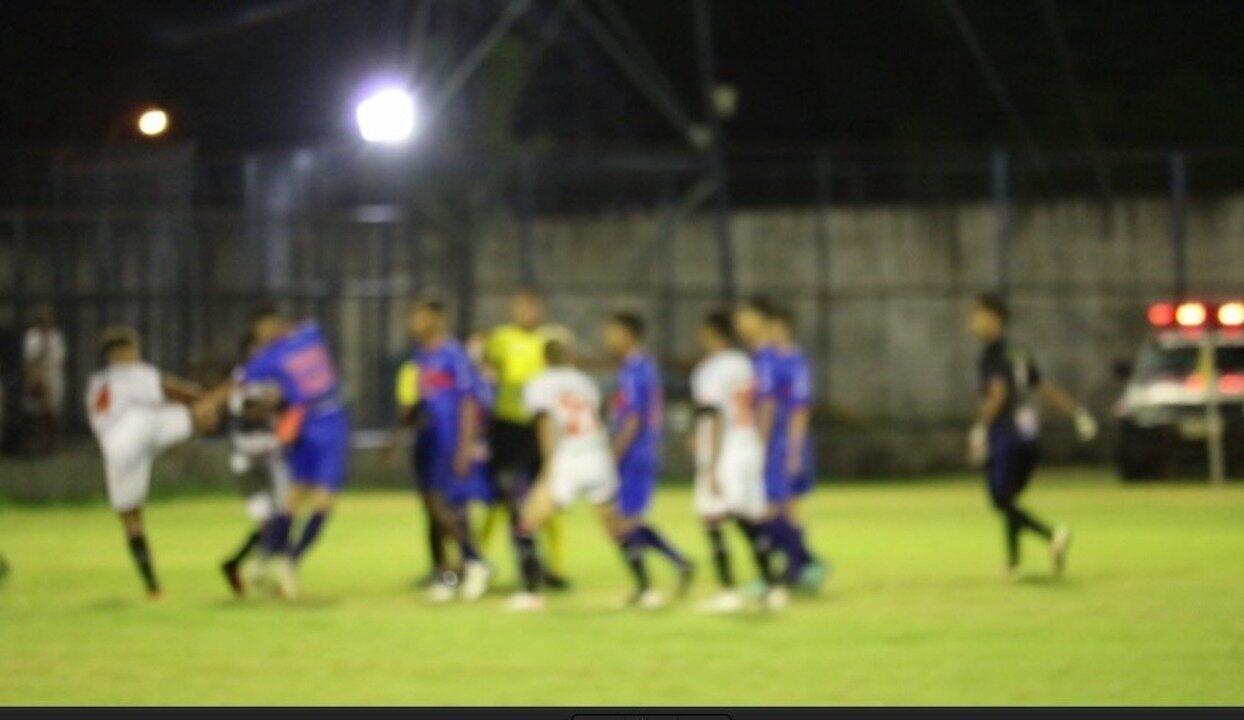Final do Piauiense sub-17 tem confusão entre jogadores do River-PI e Piauí
