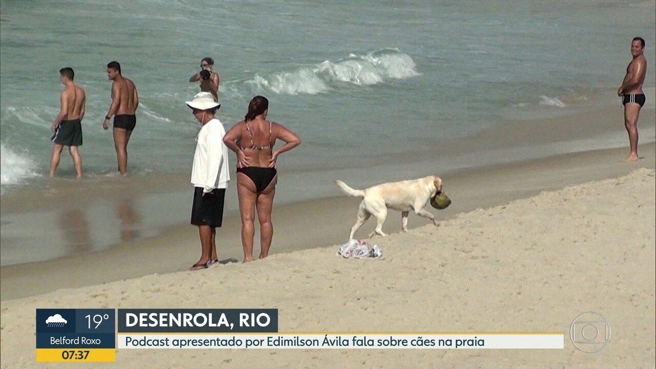 Desenrola, Rio: podcast apresentado por Edimilson Ávila fala sobre cães na praia
