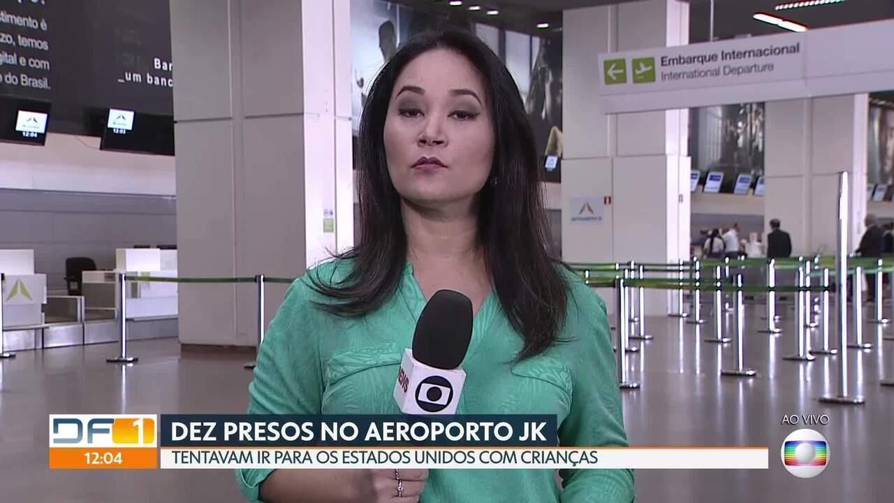 Dez pessoas são presas no Aeroporto JK tentando levar crianças para os Estados Unidos