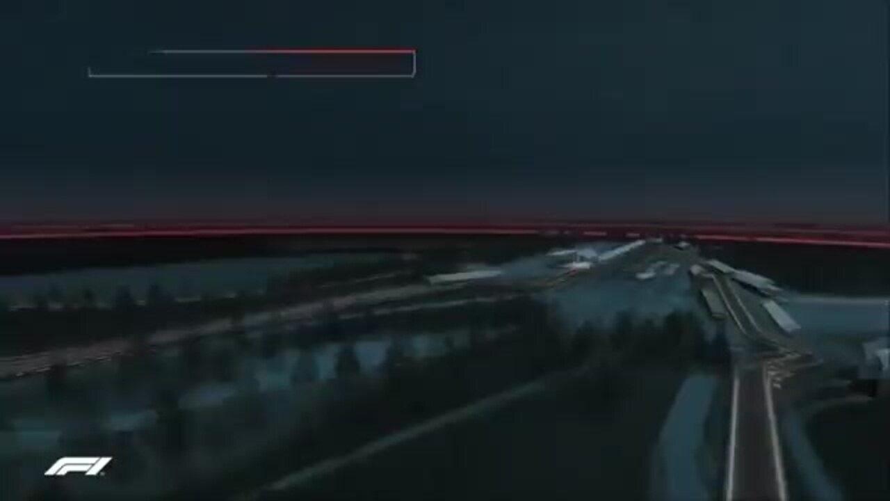 Mudança na arte do mapa da pista da Fórmula 1 em Spa-Francorchamps, domingo passado