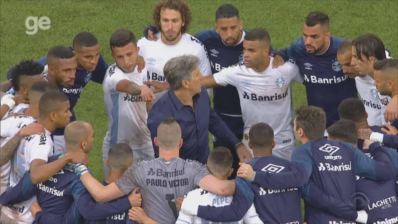 Vídeo mostra momento em que o Grêmio decidia batedores para os pênaltis